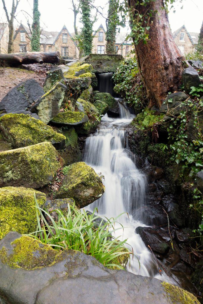 Little waterfall in Endcliffe park in Sheffield