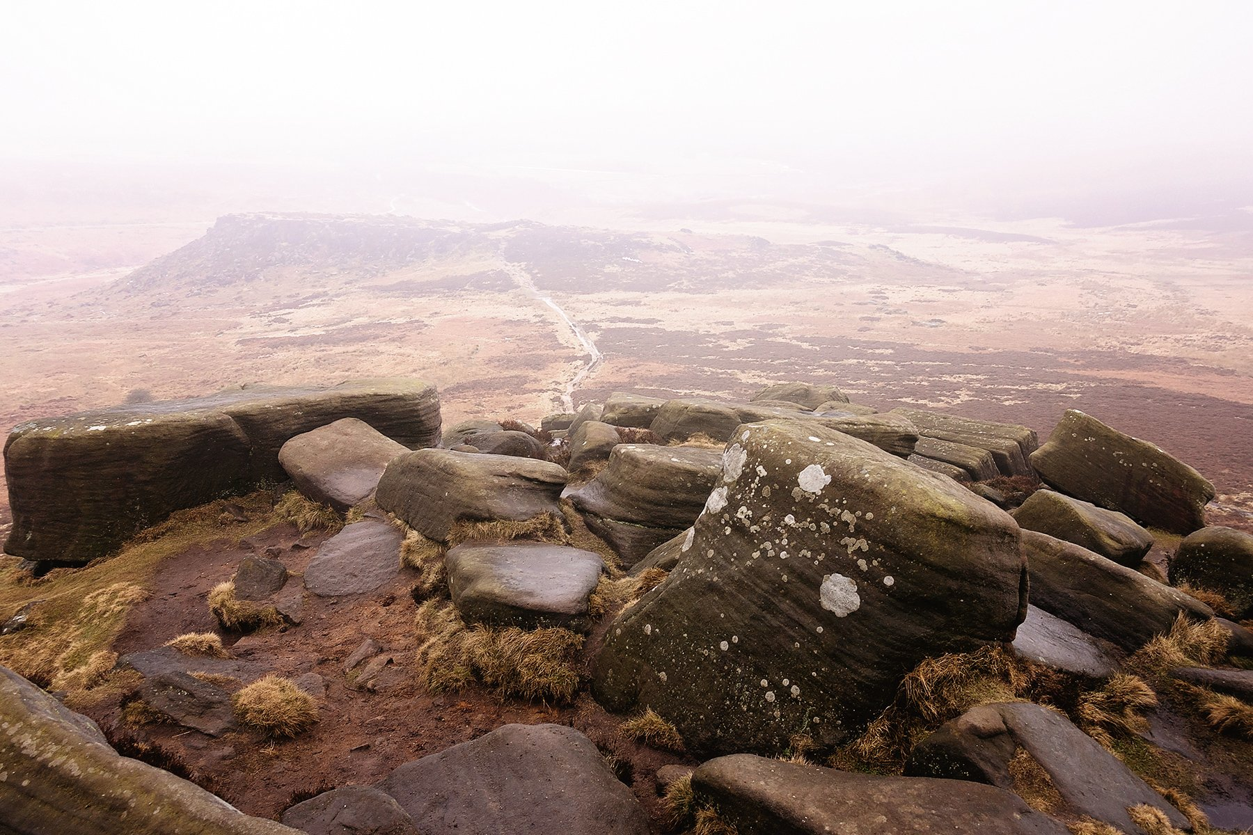 Very overcast view from Higger Tor.