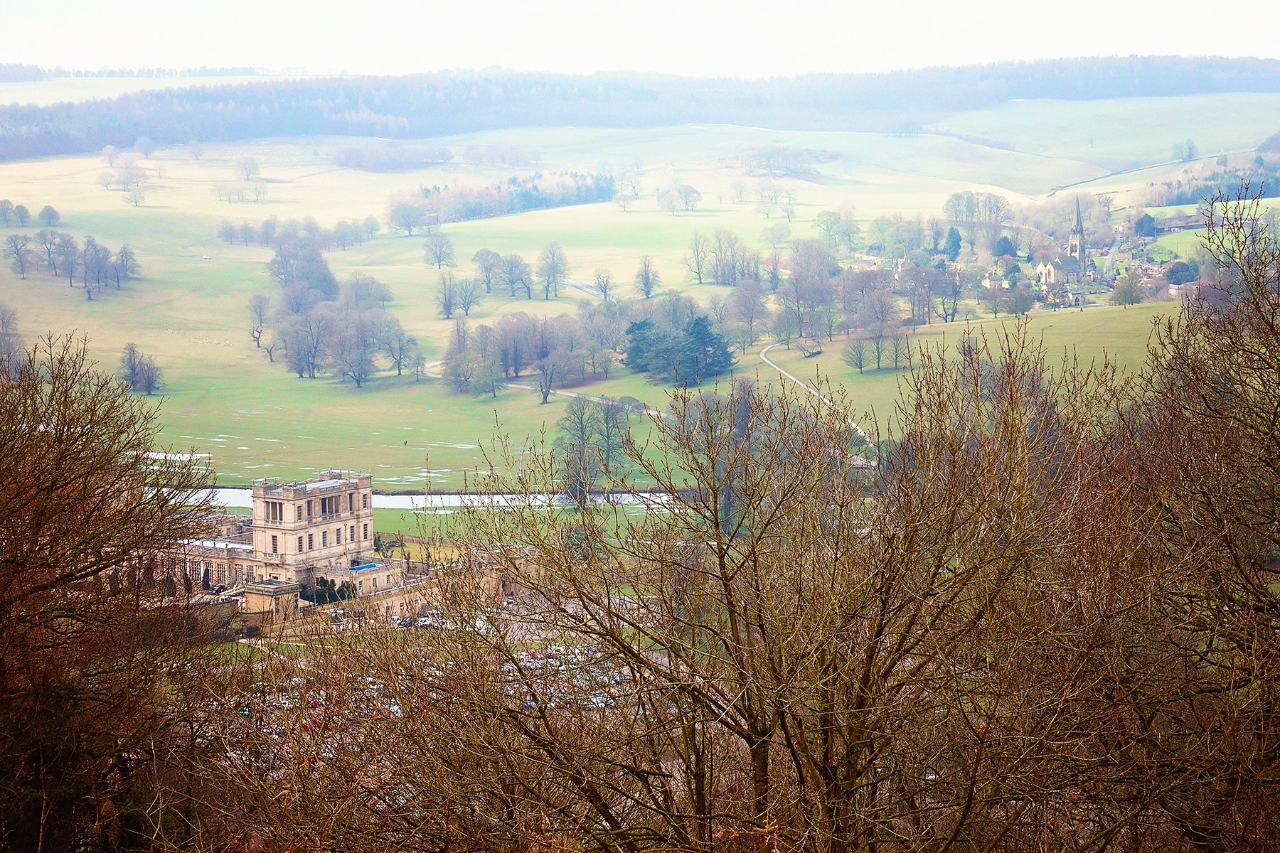 View from Hunting Tower over Chatsworth Estate