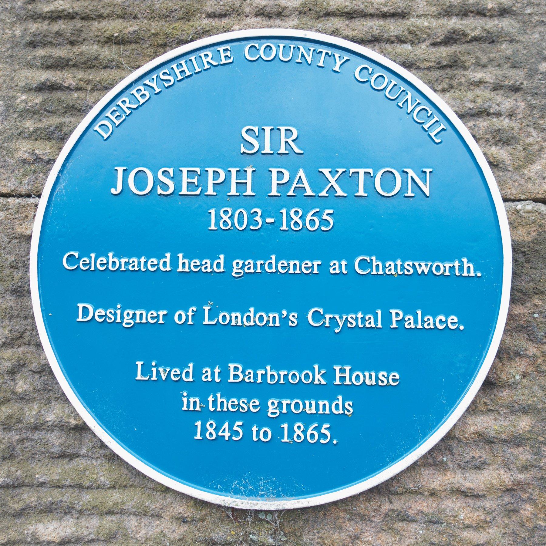 Sir Joseph Paxton plaque