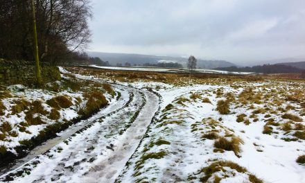 CHILLY WALK IN LONGSHAW, DERBYSHIRE