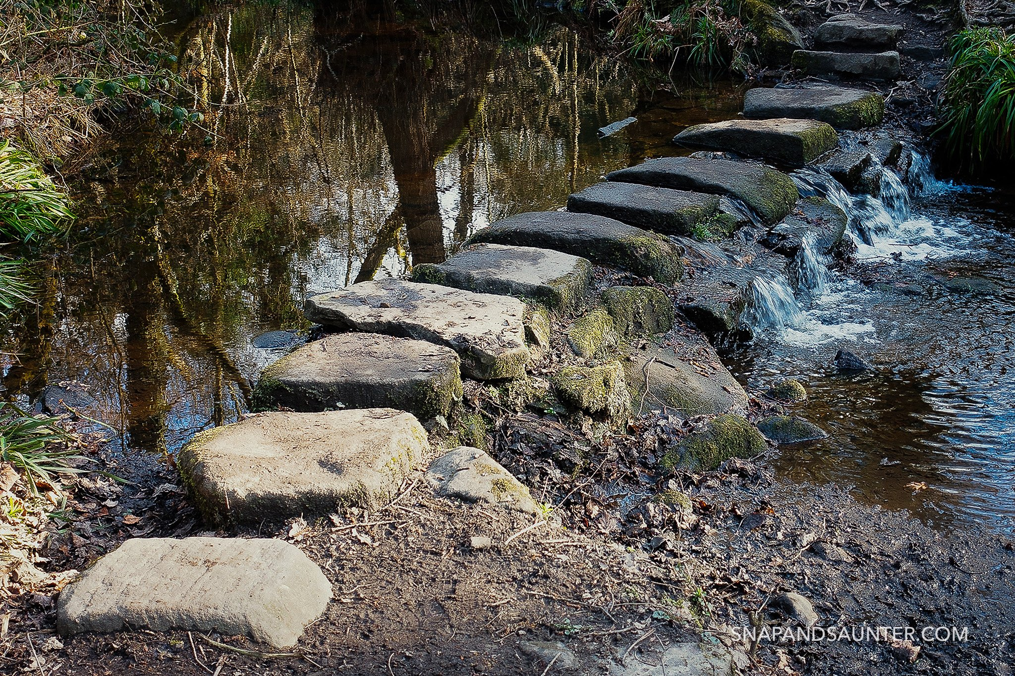 Stepping Stones at Rivelin Valley in Sheffield