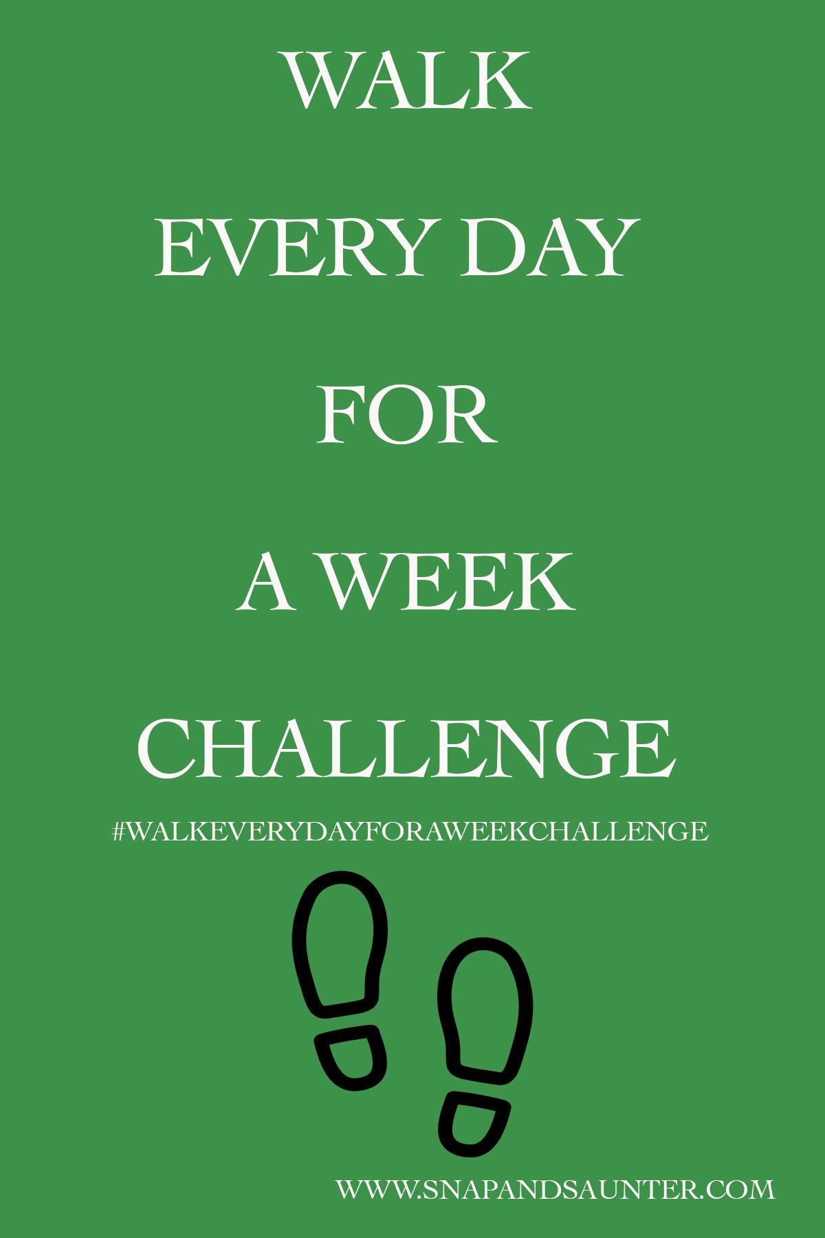 walk every day for a week challenge