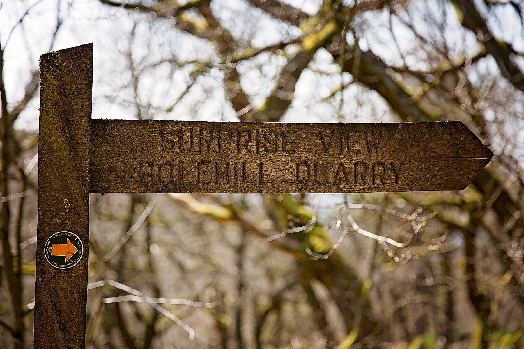 Bolehill Quarry sign