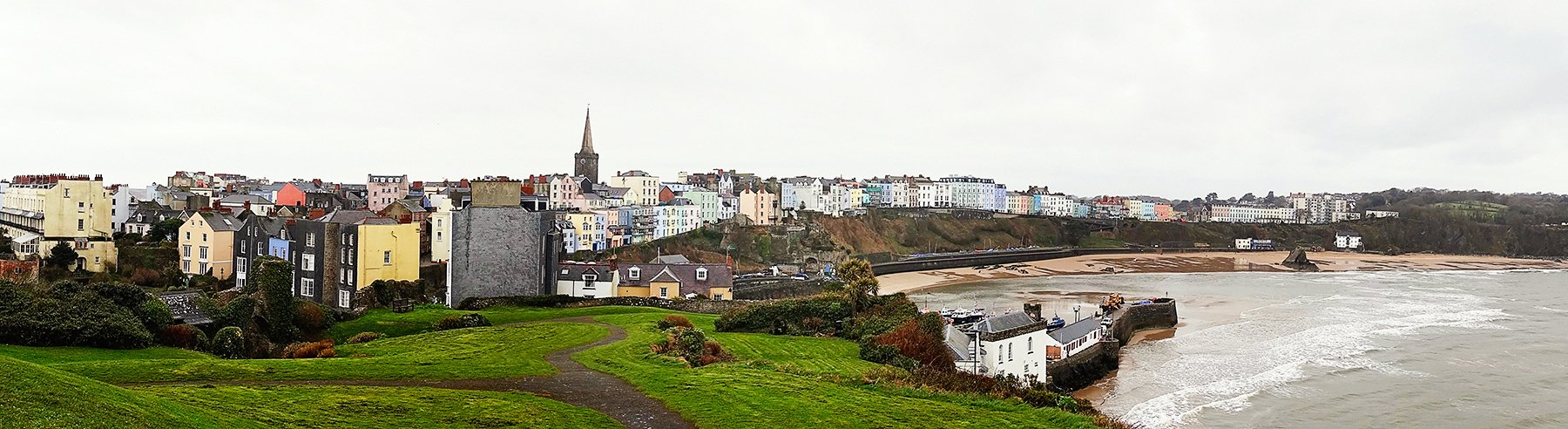 Charming seaside town of Tenby in Pembrokeshire