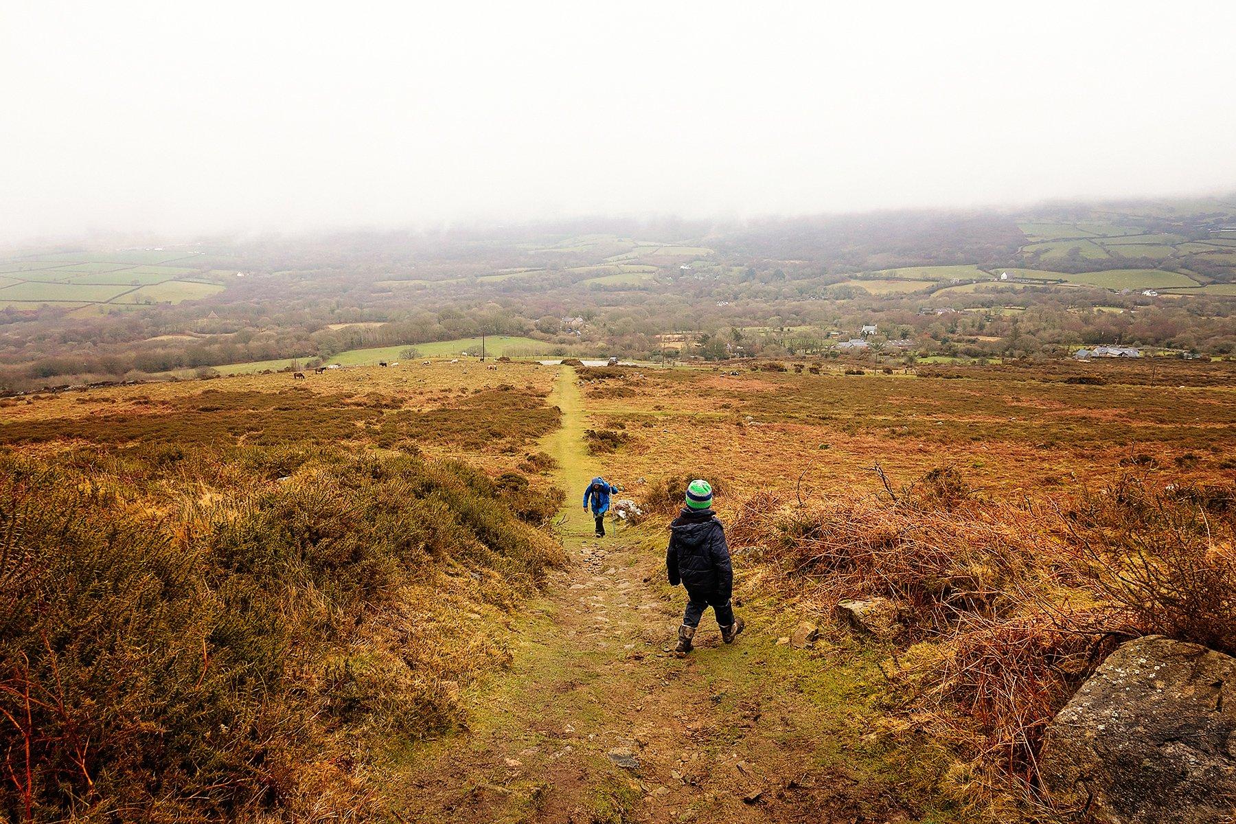 Climbing Carn Ingli