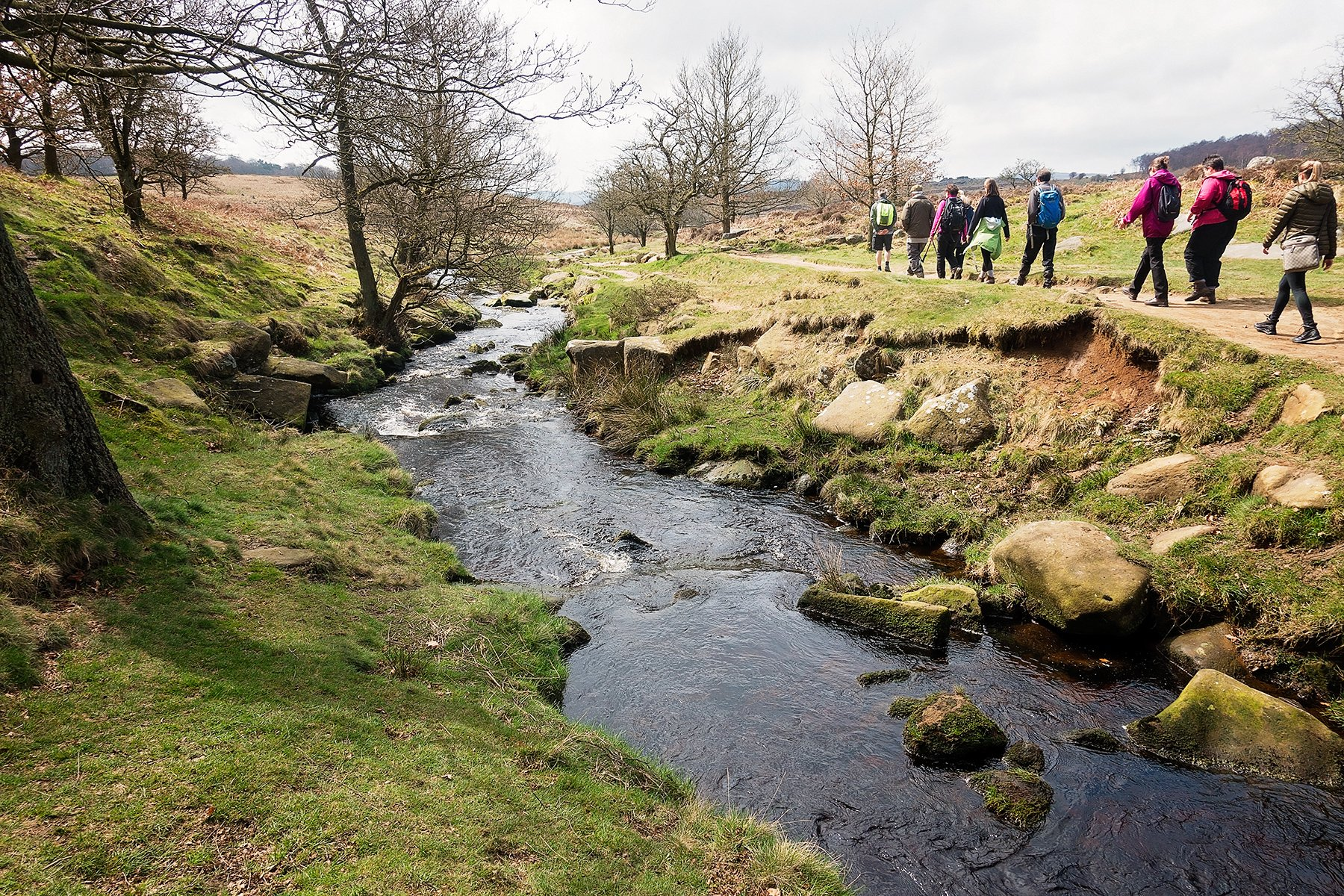 Longshaw guided walk to Burbage Edge in the Peak District