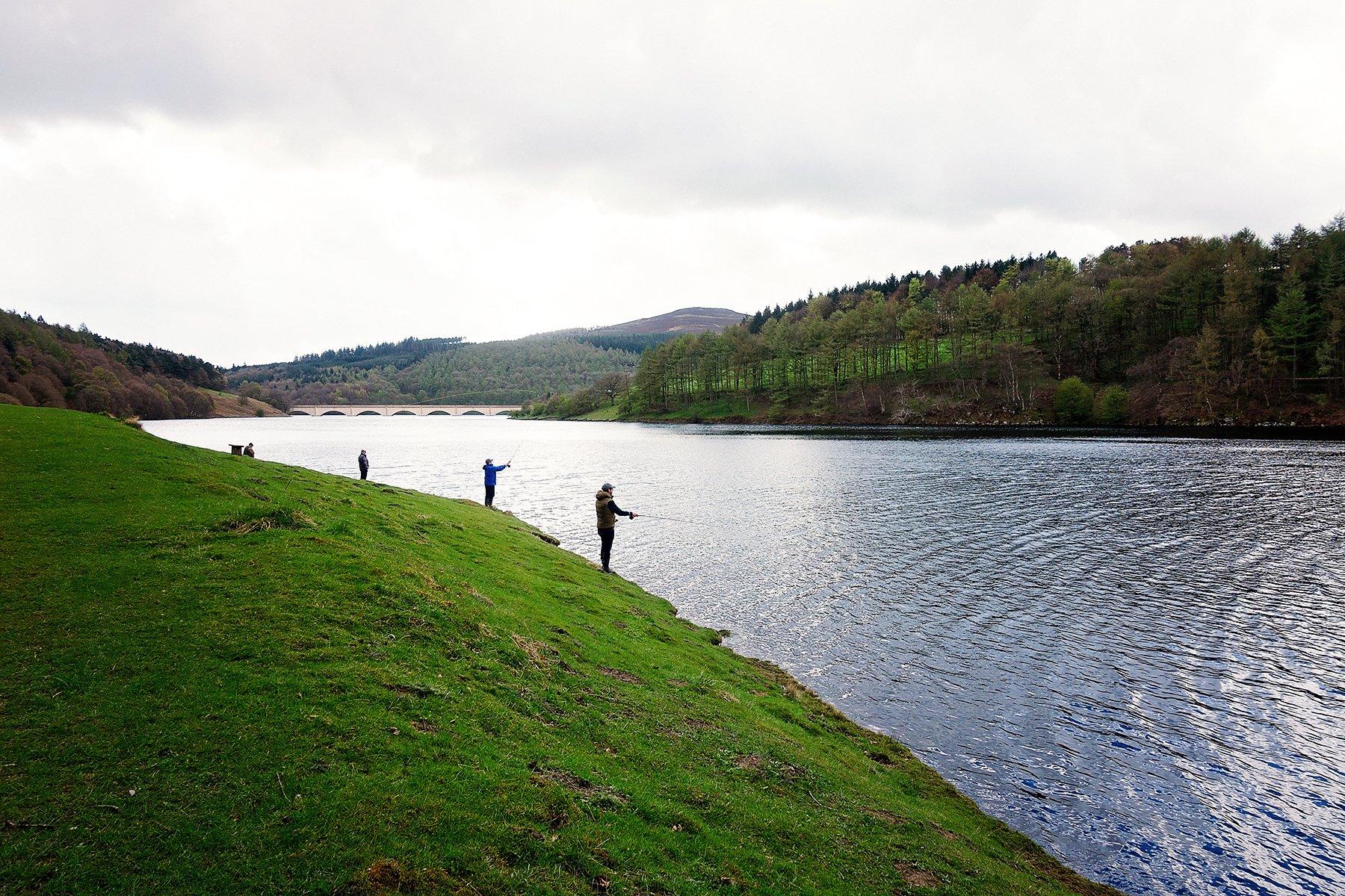 Fishing at Ladybower Reservoir