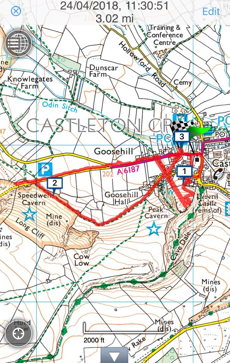 Castleton walk map