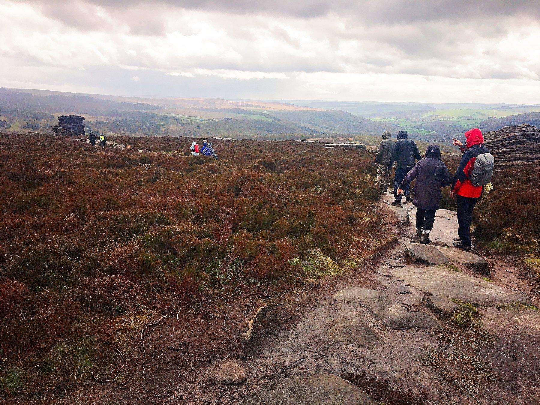 Rainy Longshaw guided walk