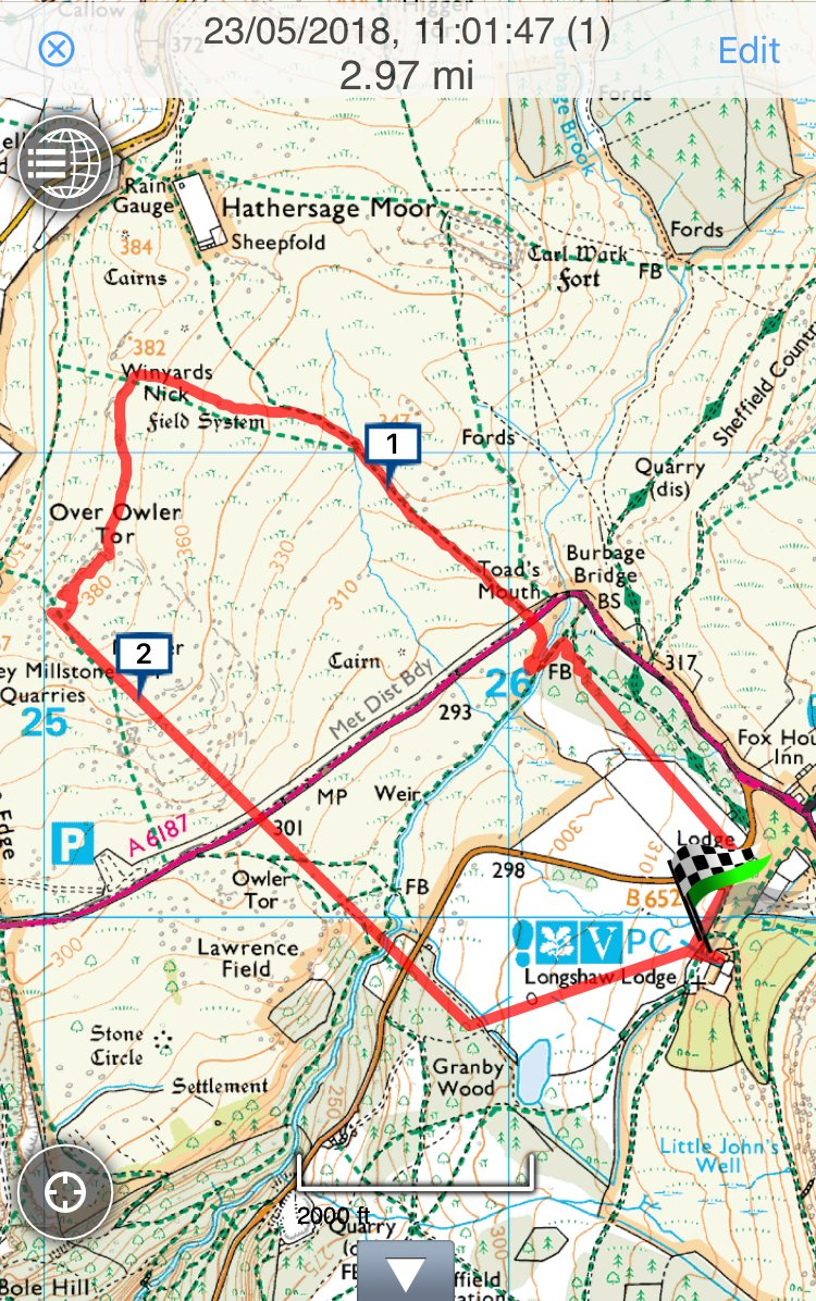 Longshaw Estate Guided walk map