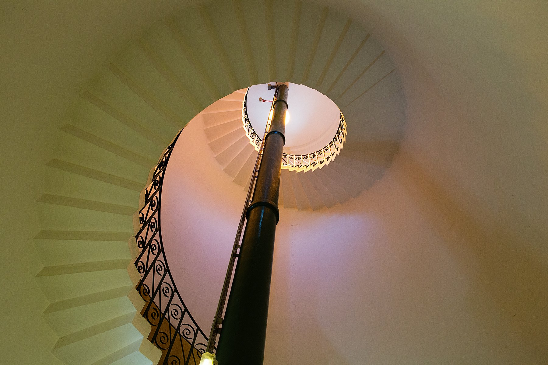 Inside of Flamborough Head Lighthouse
