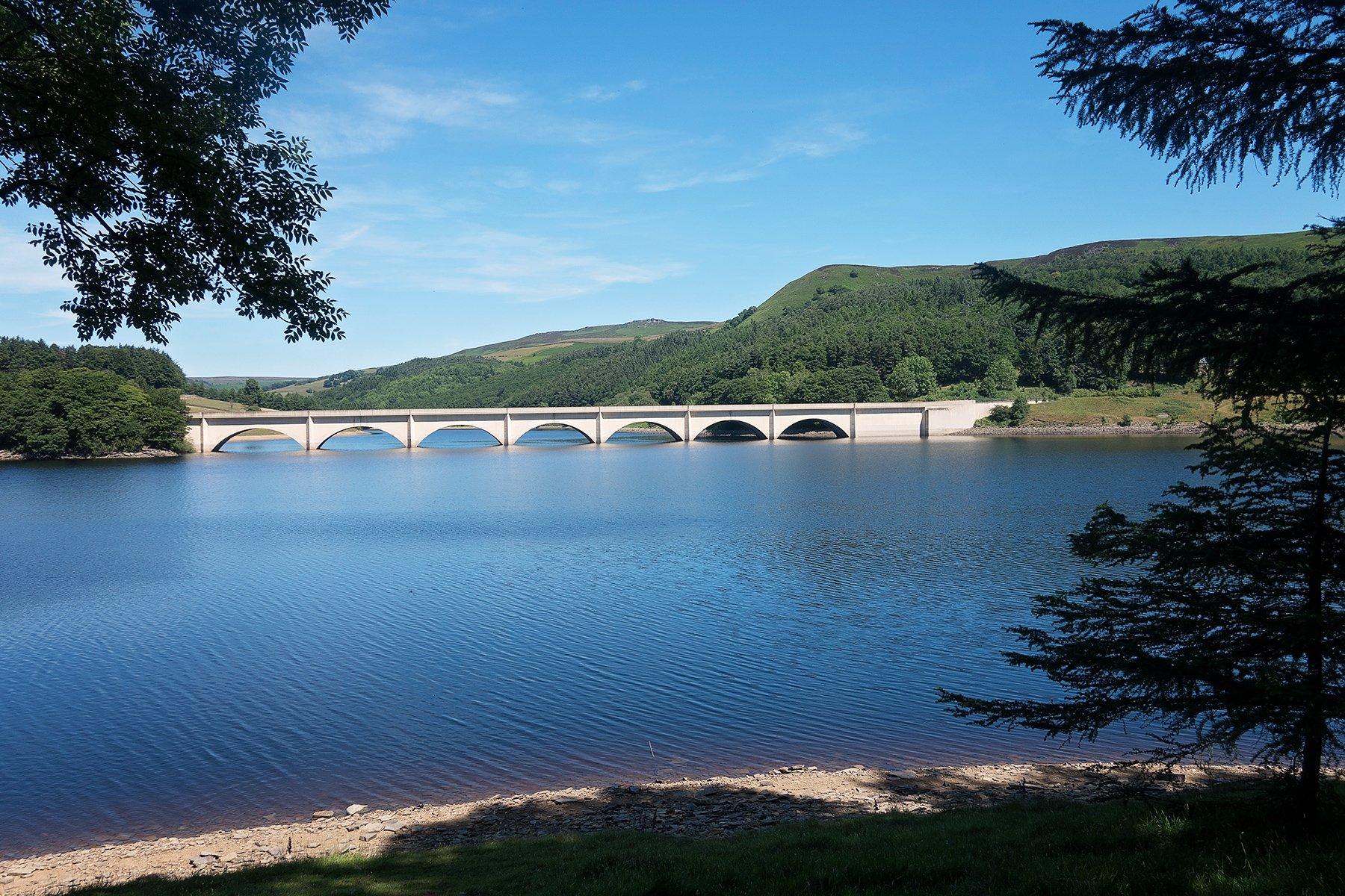 Ladybower Reservoir in Derbyshire