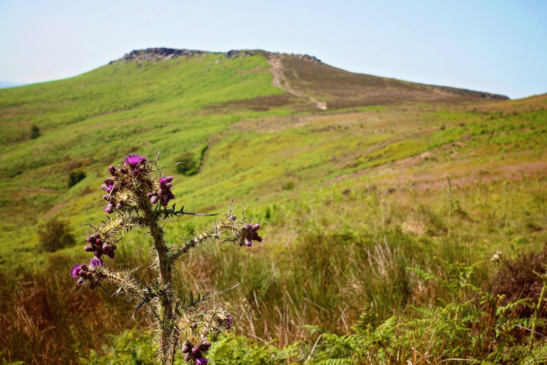 Higger Tor and Carl Wark in the Peak District