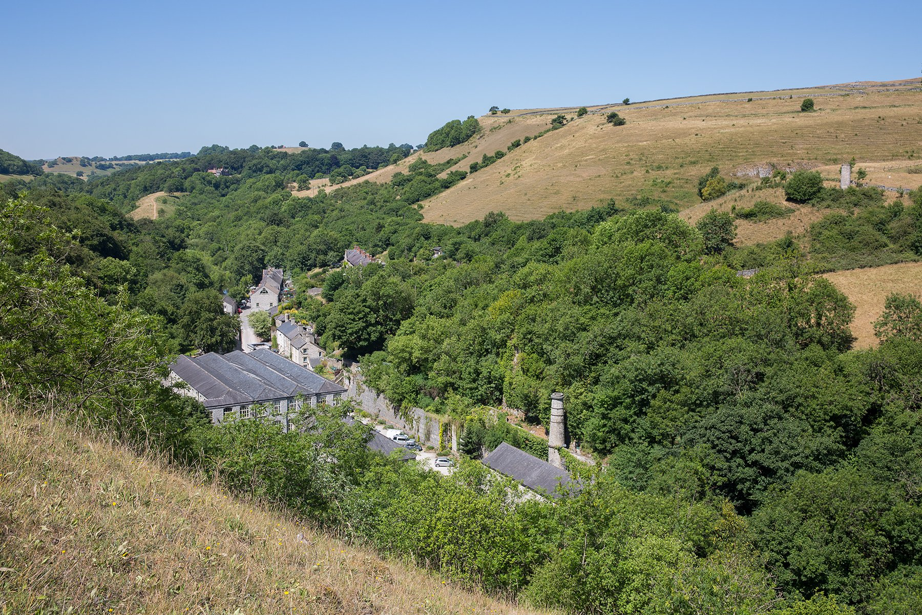 Cressbrook Mill in Derbyshire
