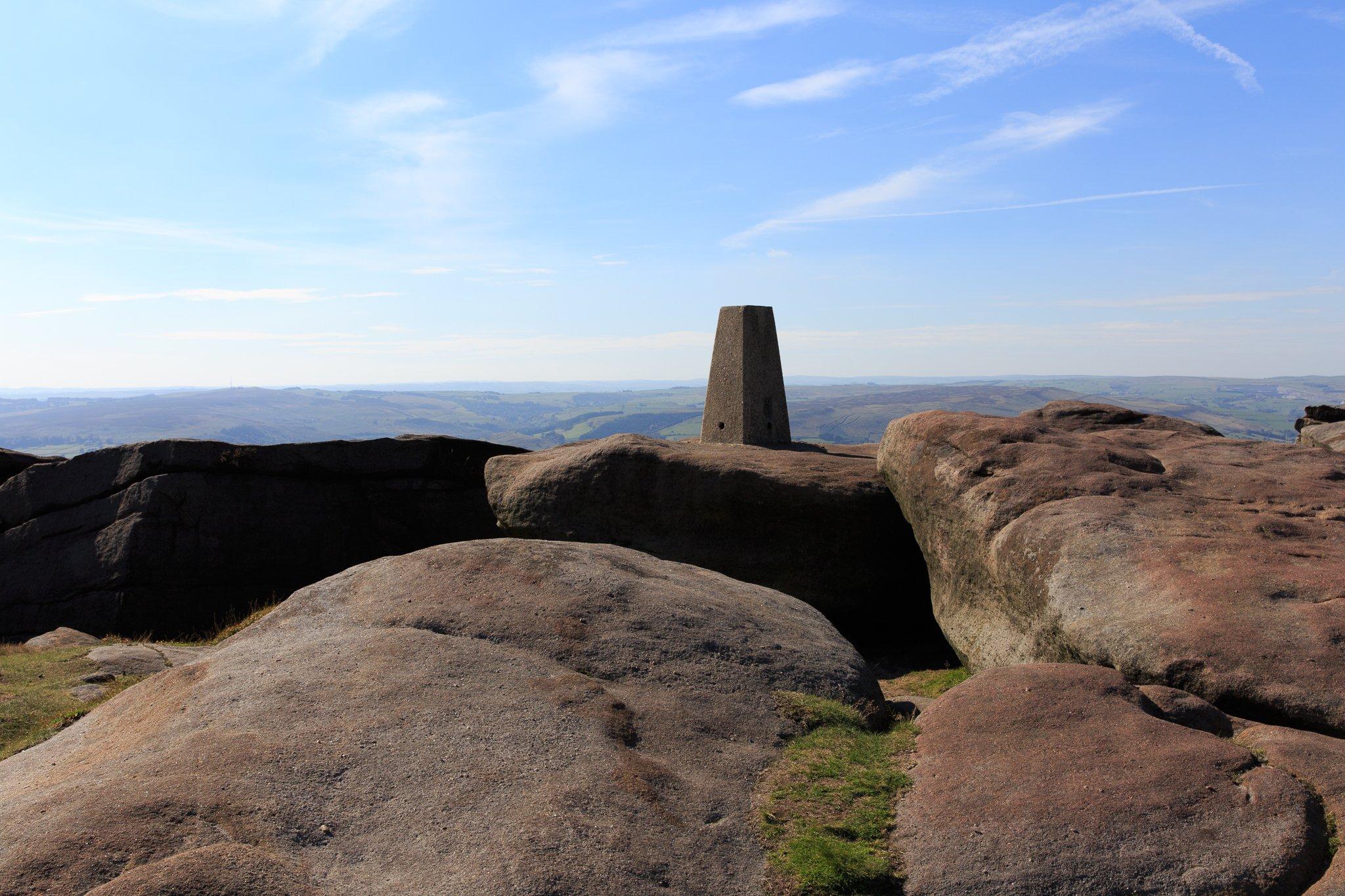 Cowper Stone trig point