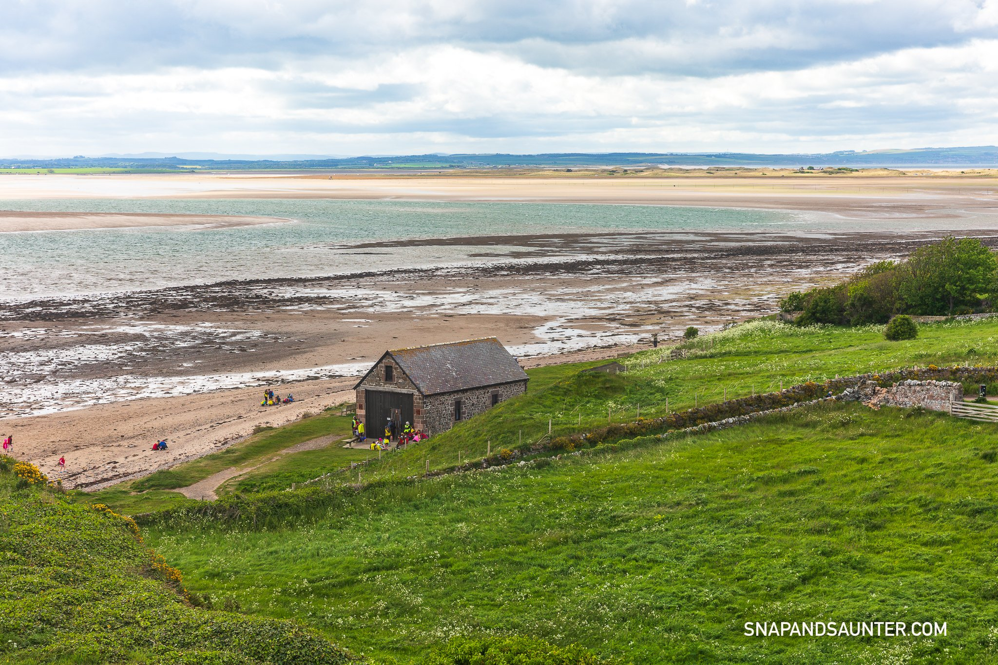 A view from the Lookout Tower on Holy Island in Northumberland
