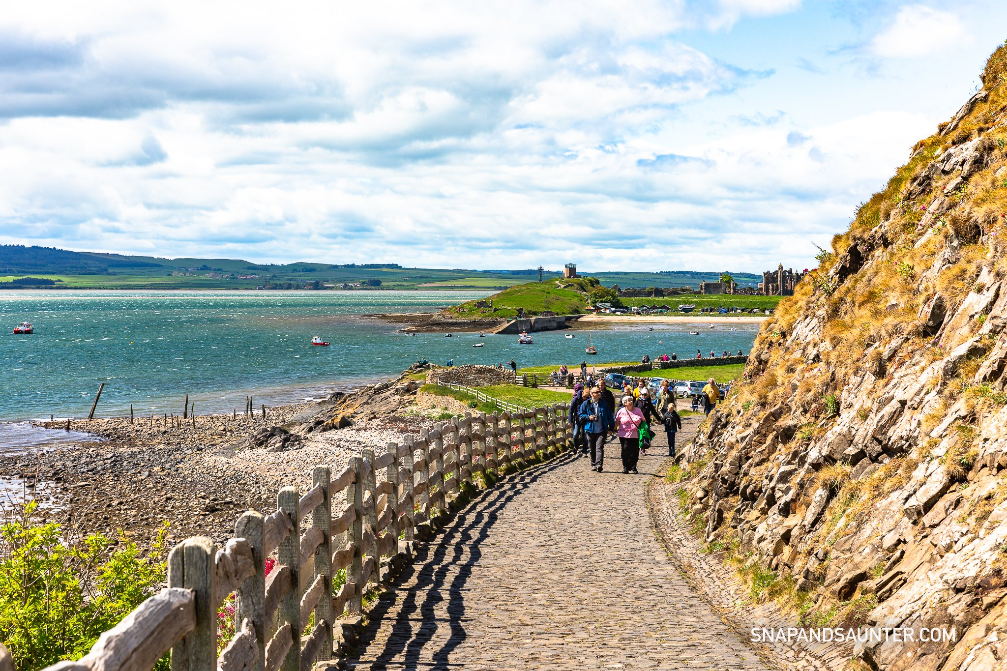 on the way to Lindisfarne Castle in Northumbuland