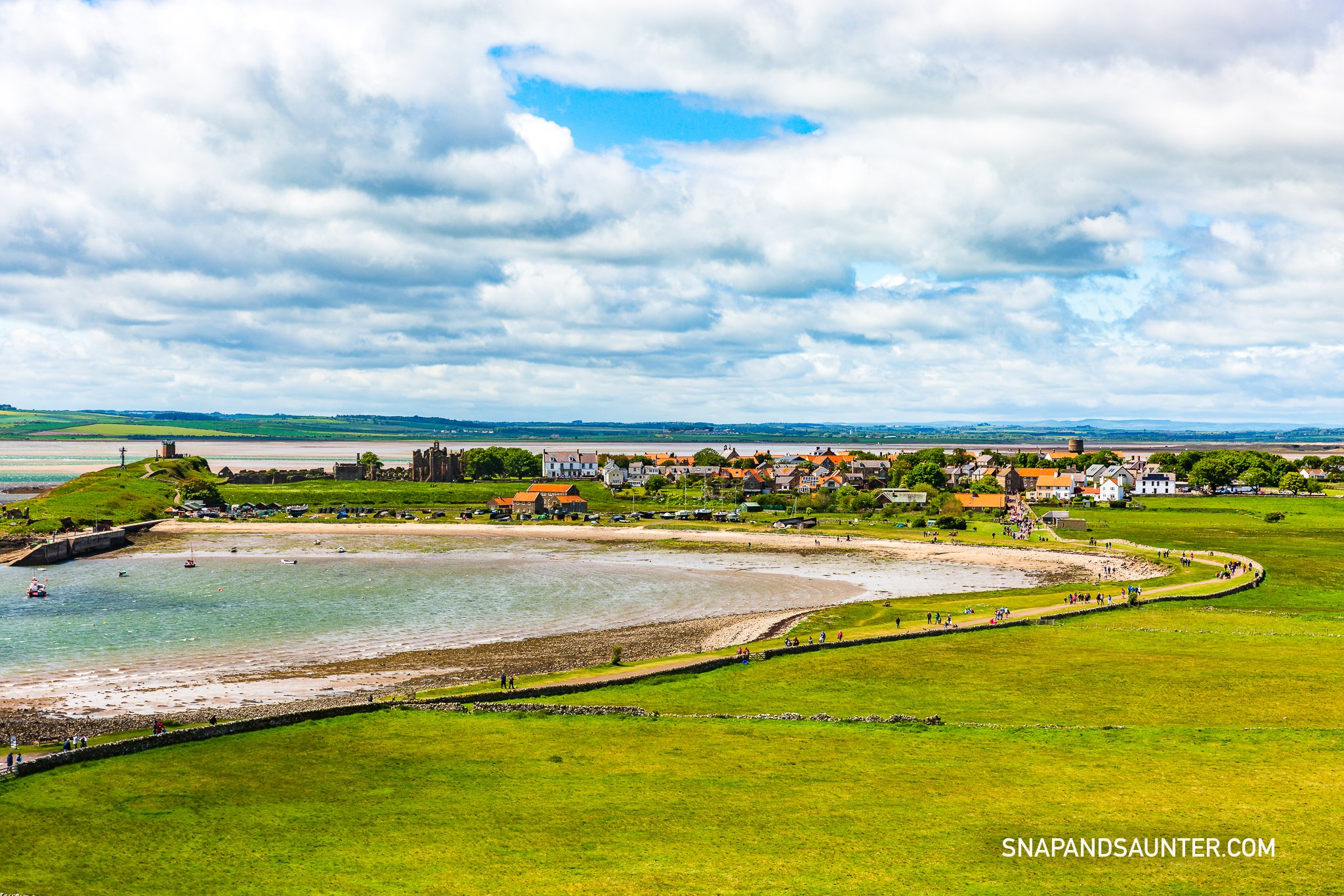 A view from Lindisfarne Castle