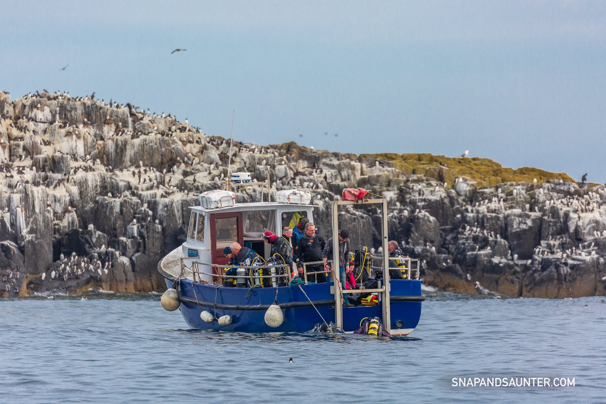 Glad Tidings boat on Farne Islands