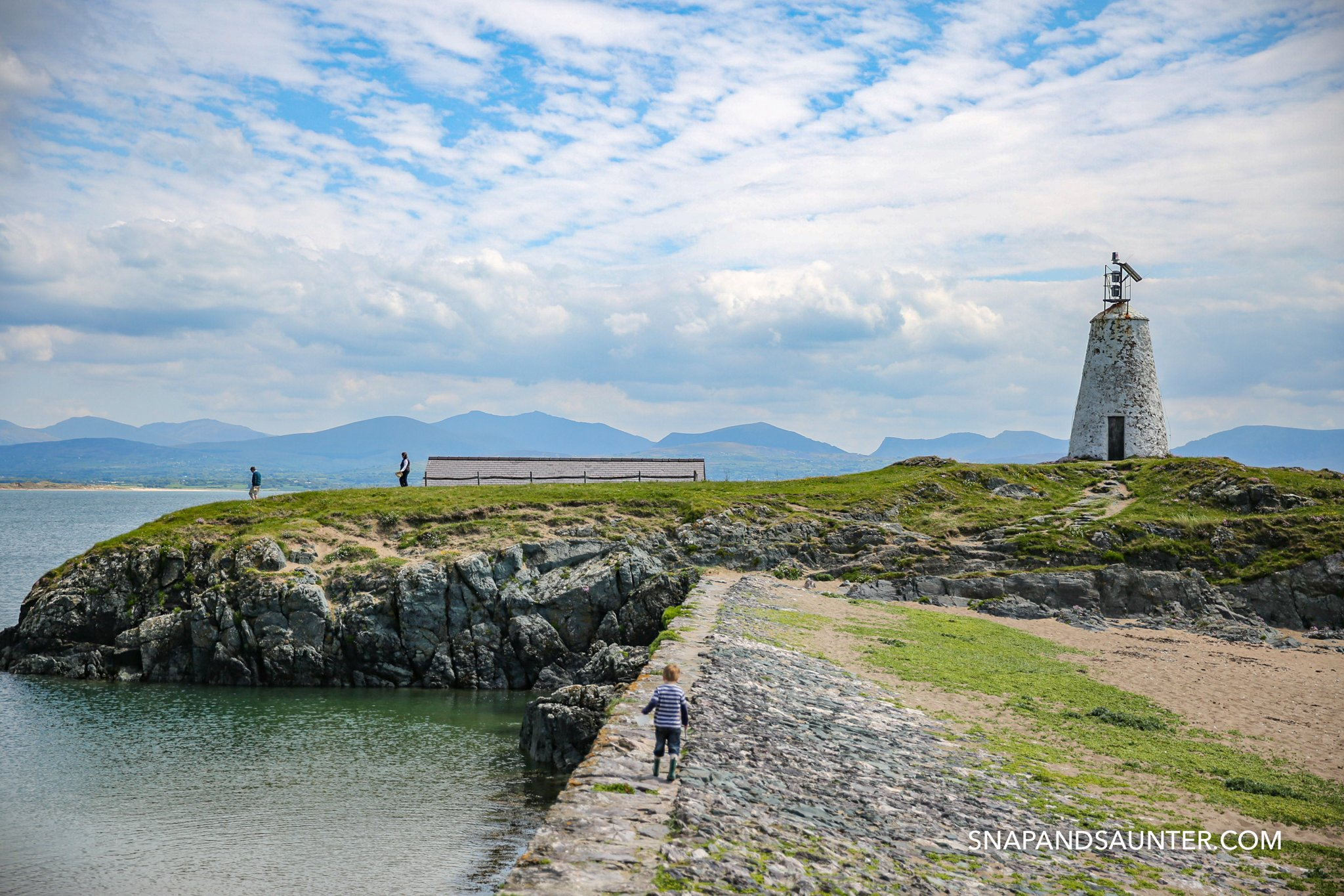 Old lighthouse on Llandwyn Island in Anglesey