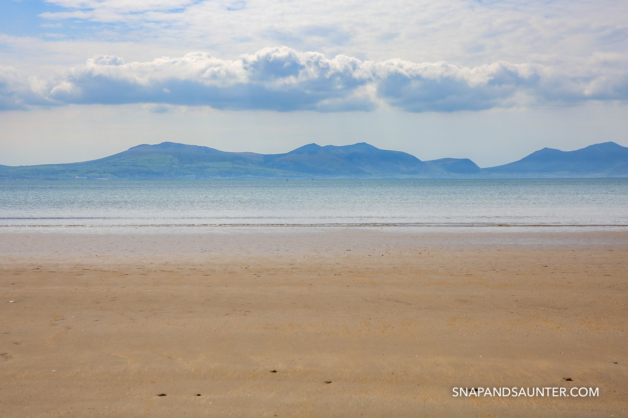 Newborough Beach in Anglesey in Wales