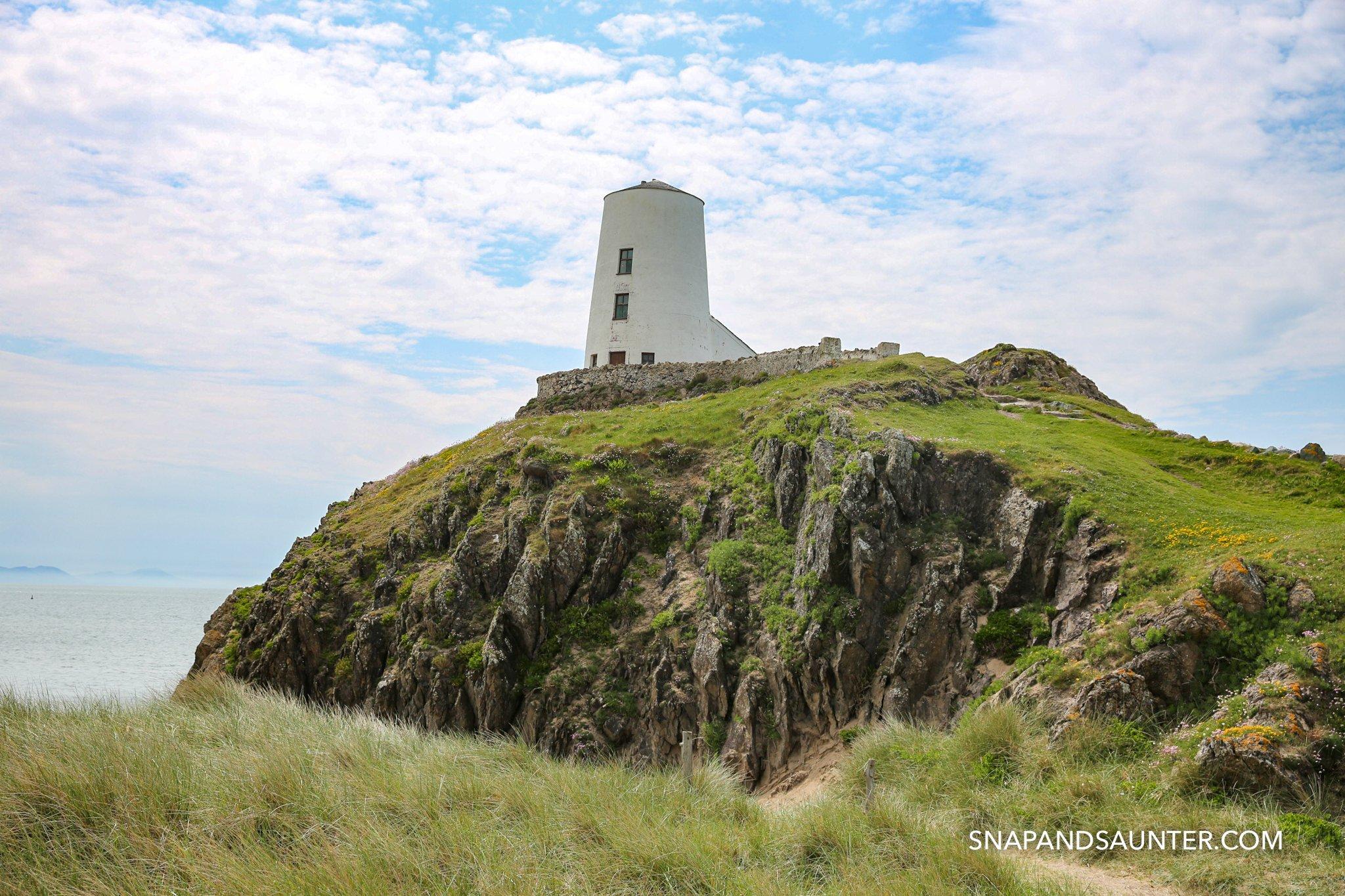 Twr Mawr lighthouse on Llandwyn Island in Anglesey in Wales
