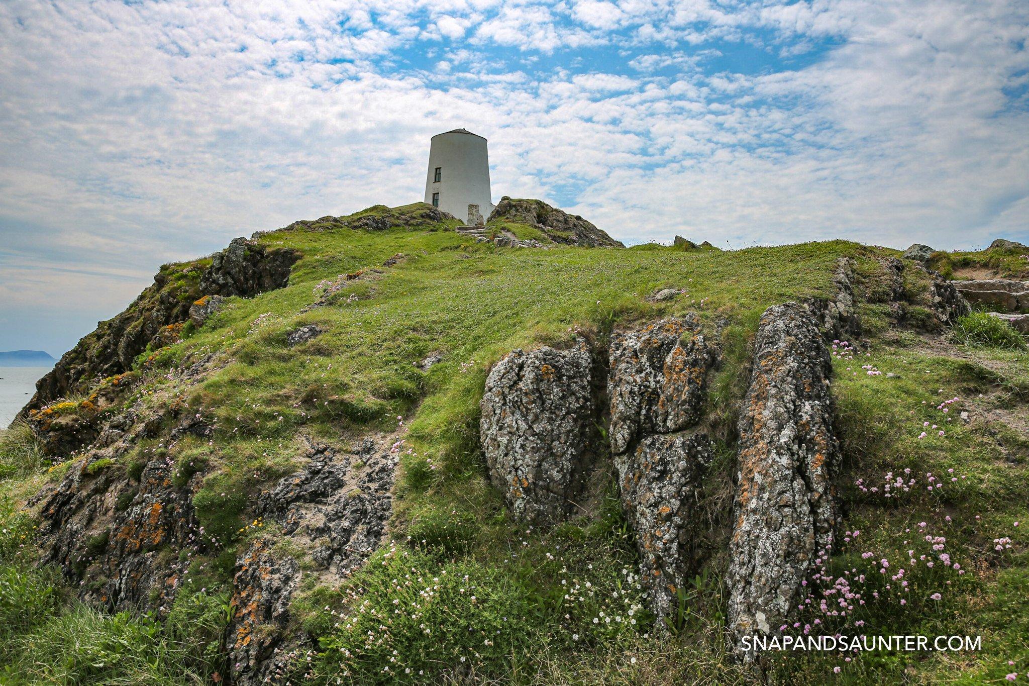 Lighthouse on Llandwyn Island in Anglesey