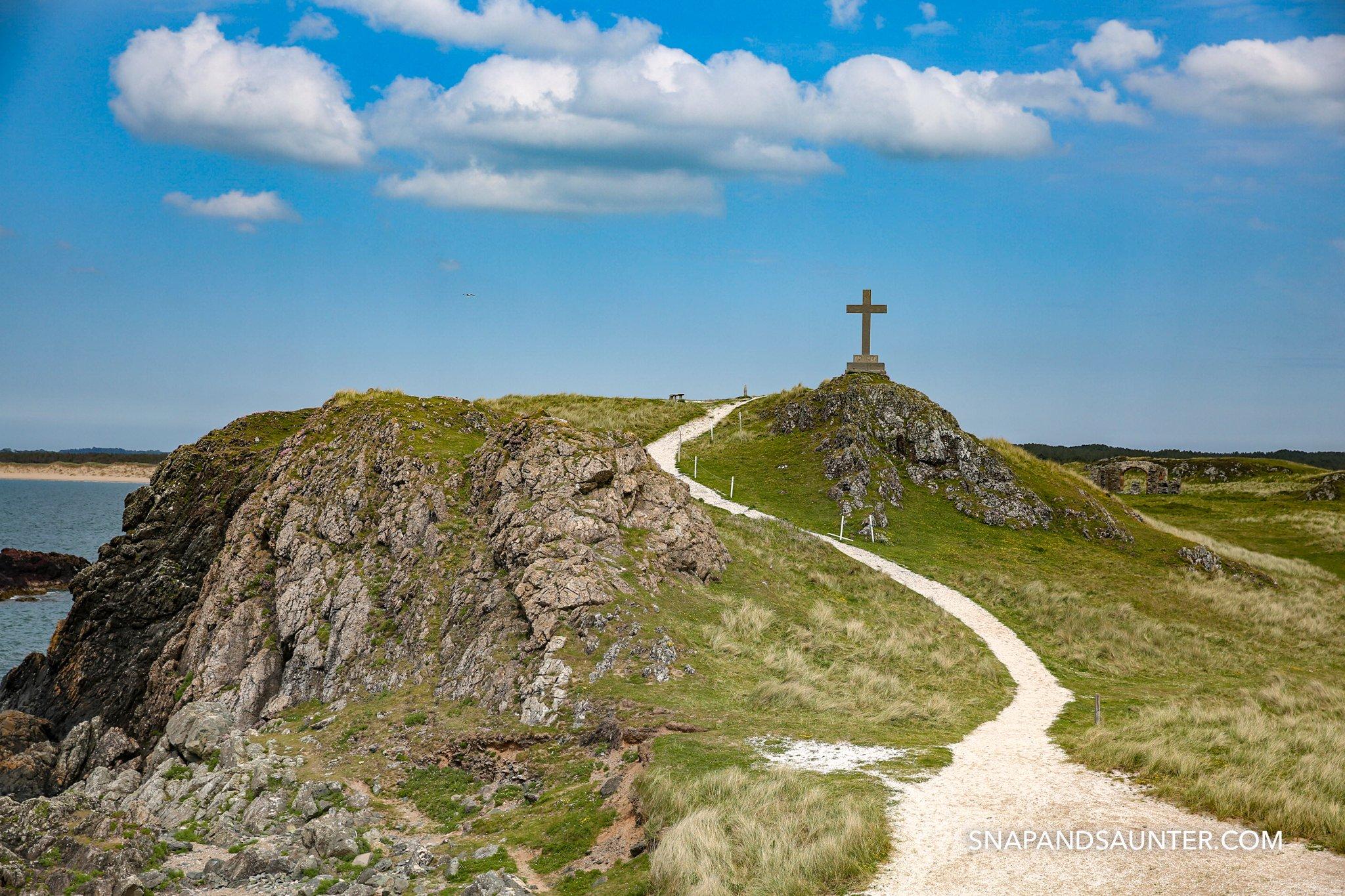 Cross on Llandwyn Island in Anglesey