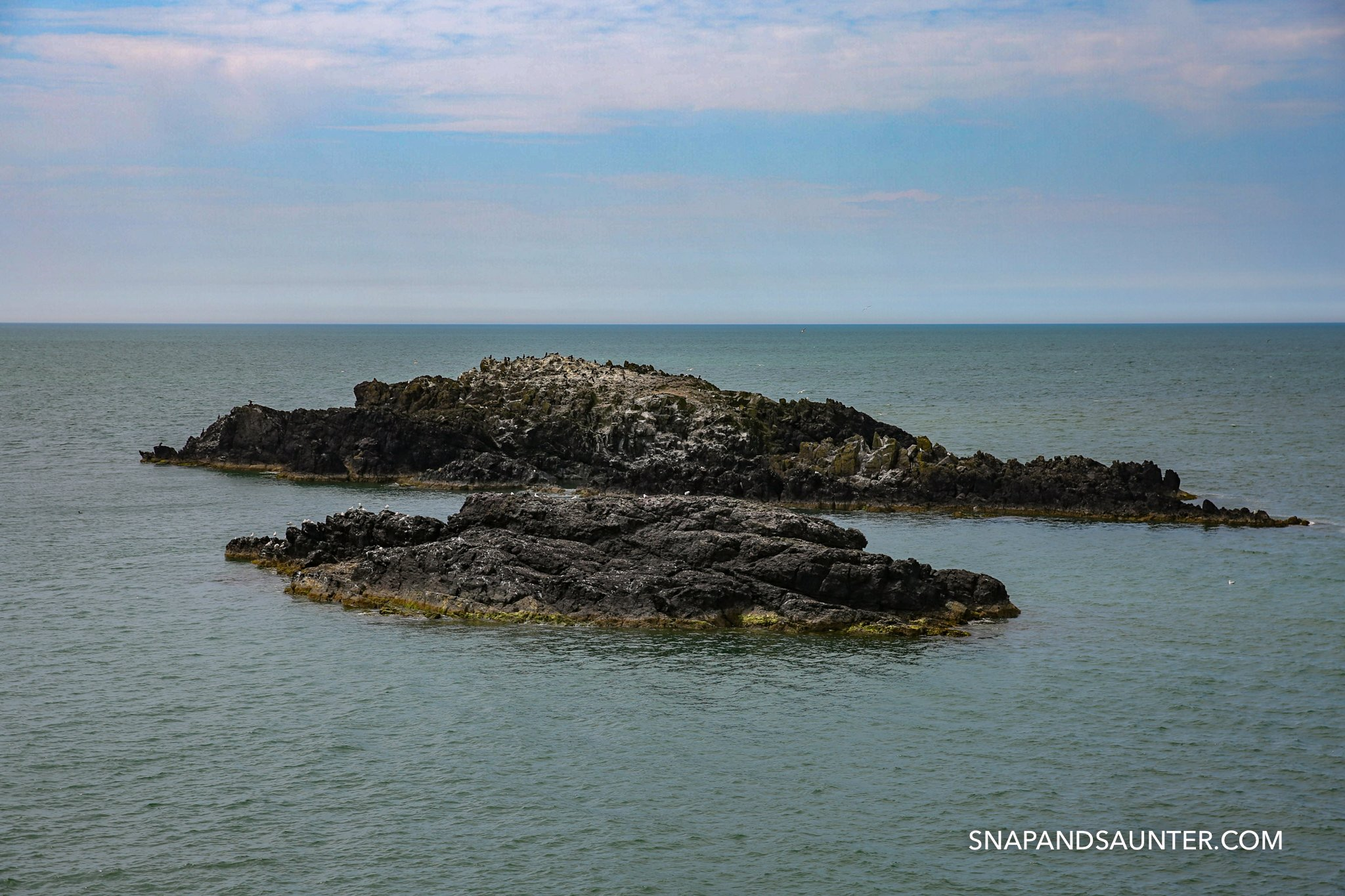Two littles islets on Llandwyn Island in Anglesey