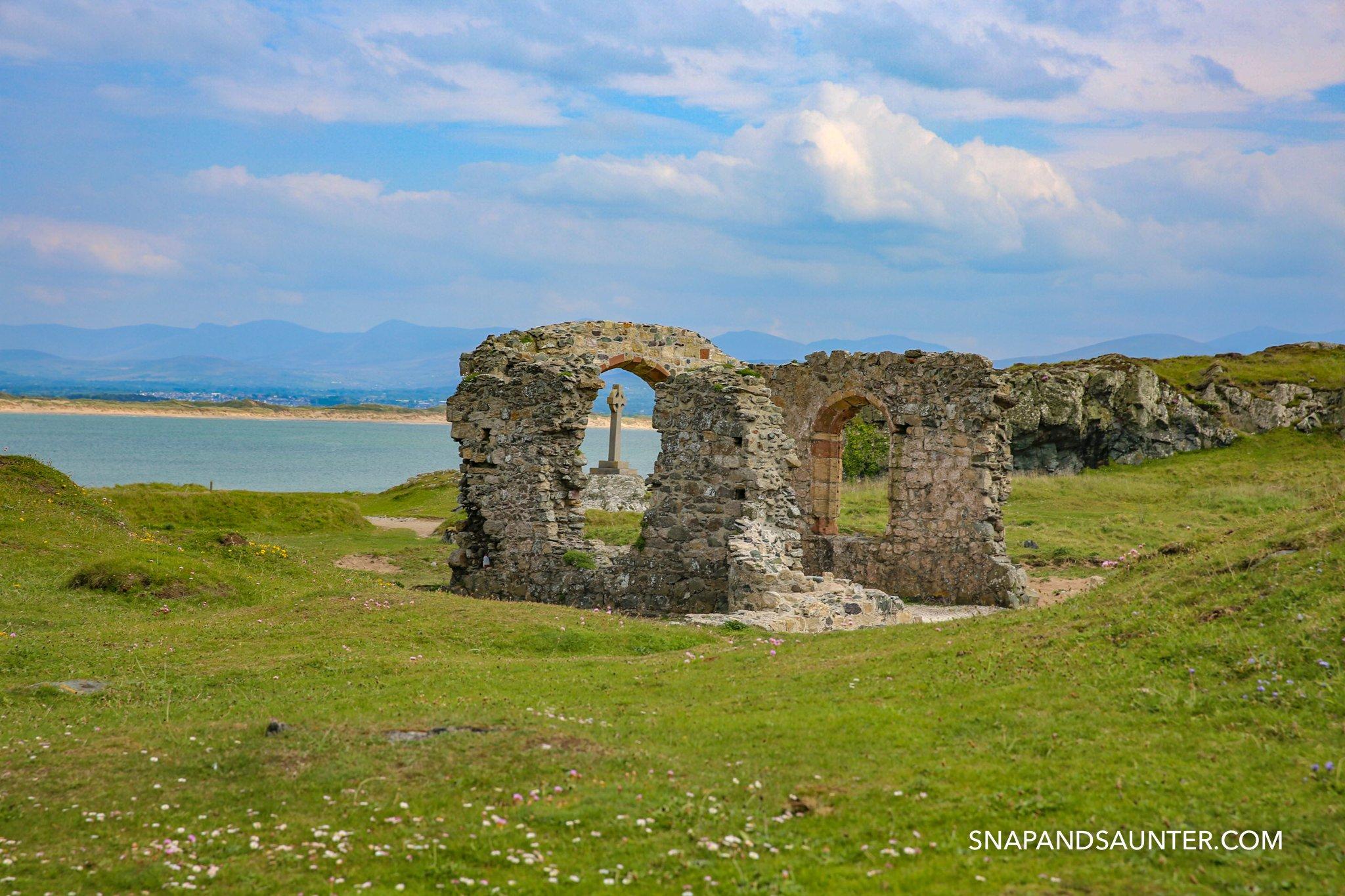 Ruin on Llandwyn Island in Anglesey