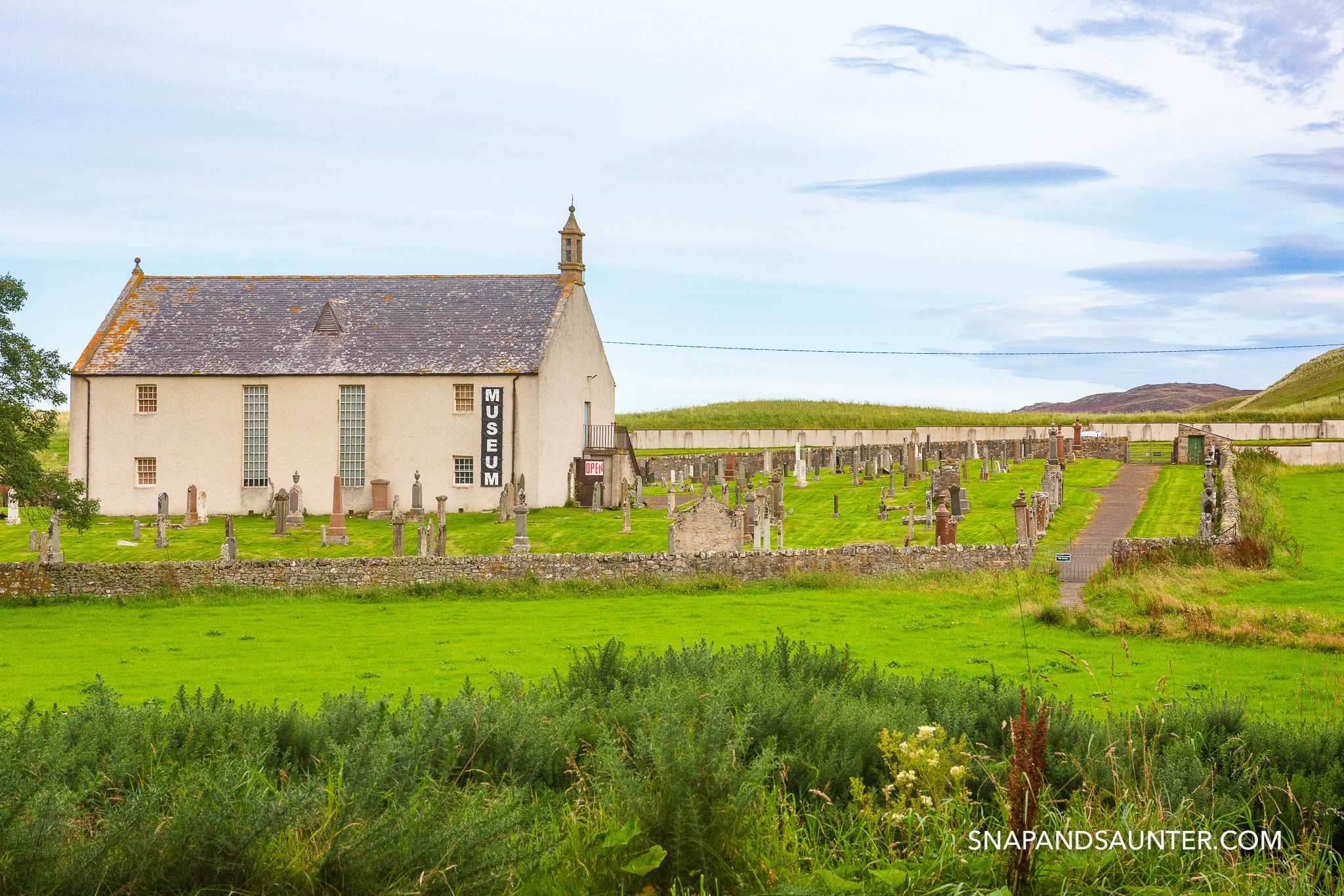 The Strathnaver Museum with cemetery on the North Coast 500