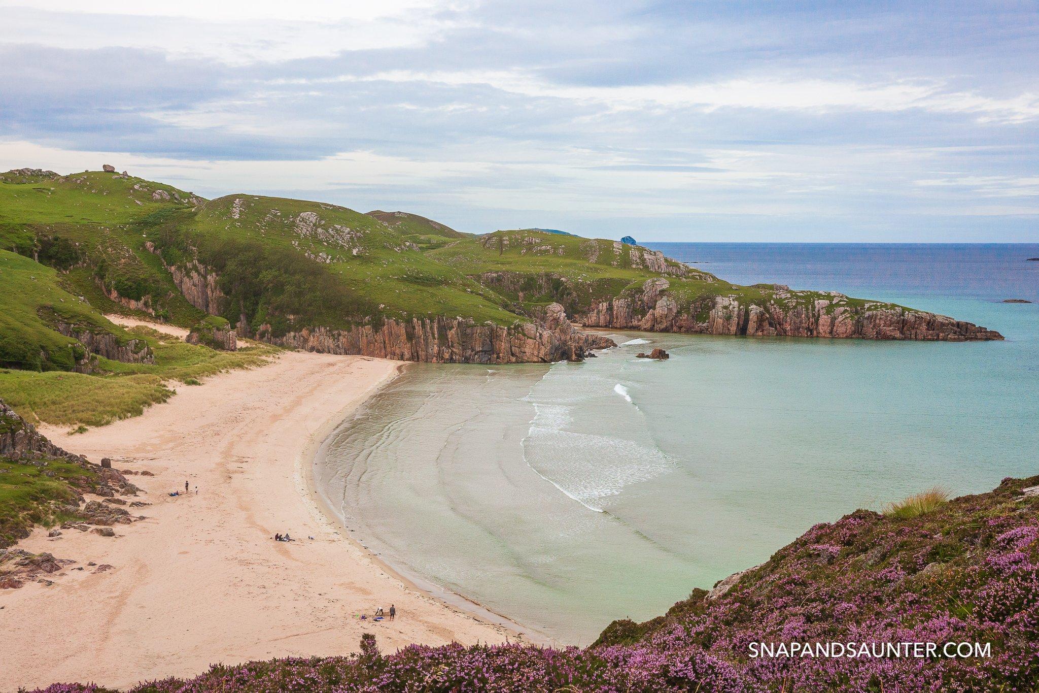 Ceannabeinne Beach in Scotland