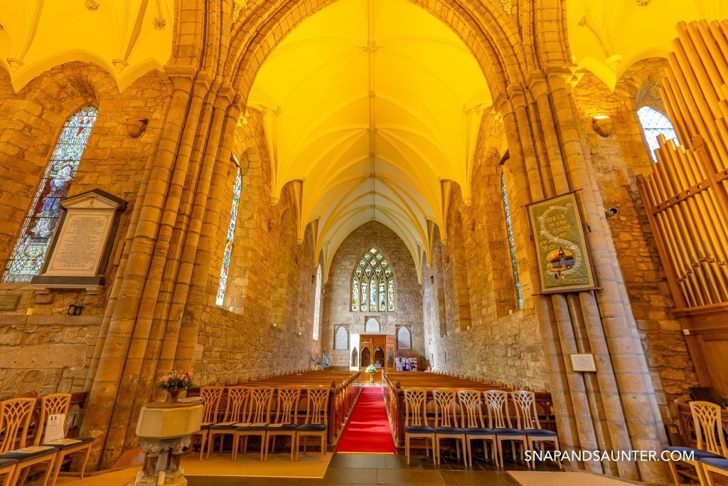 Inside of the Dornoch Cathedral which is on North Coast 500 route
