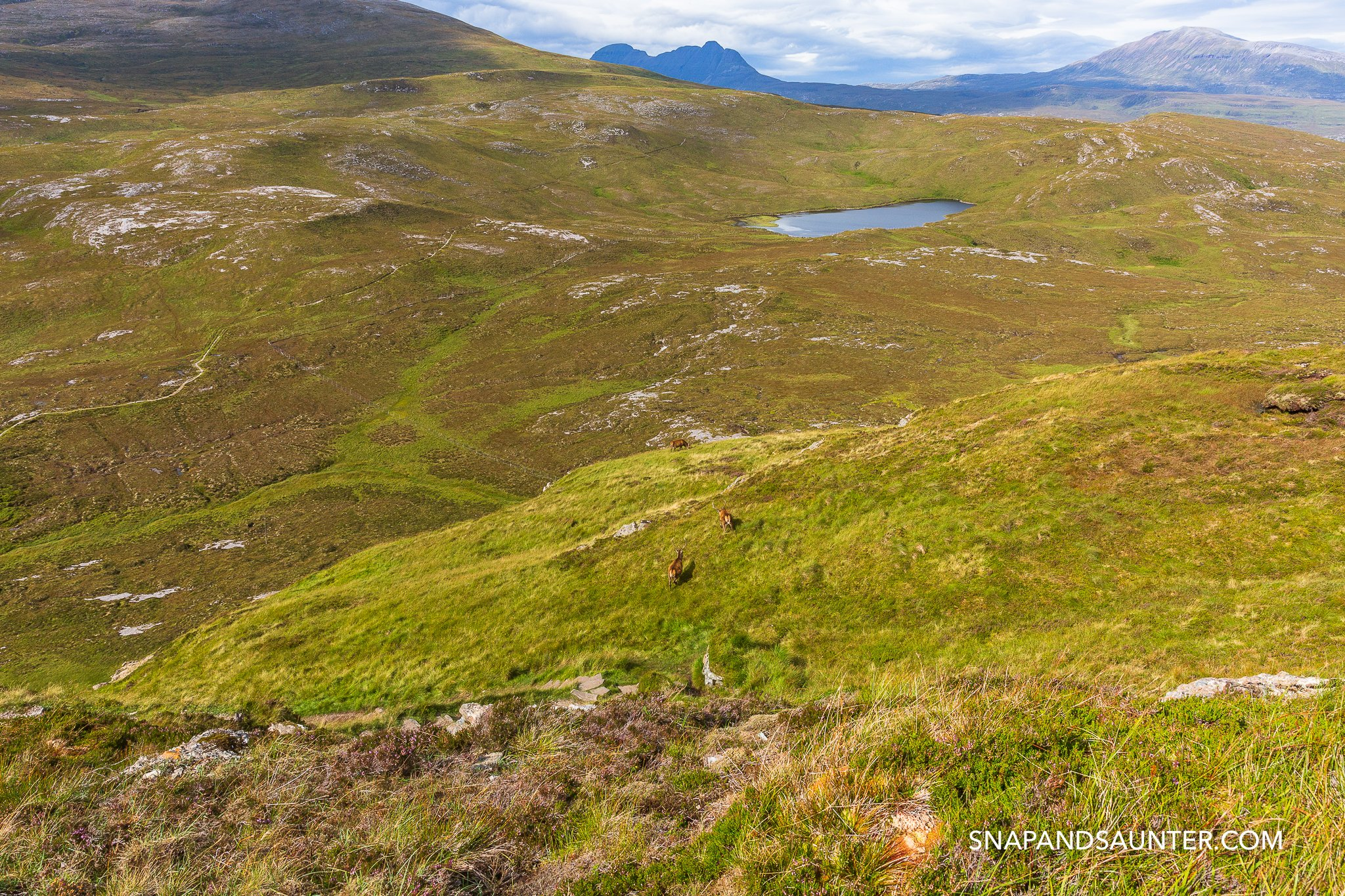 Knockan Crag National Nature Reserve on route North Coast 500 in the Scottish Highlands
