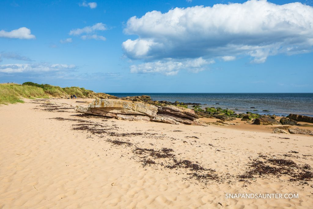 Dornoch Beach in the Scottish Highlands. North Coast 500 route. Snap and Saunter travel and hiking blog. Photography by Martina Hardiman.