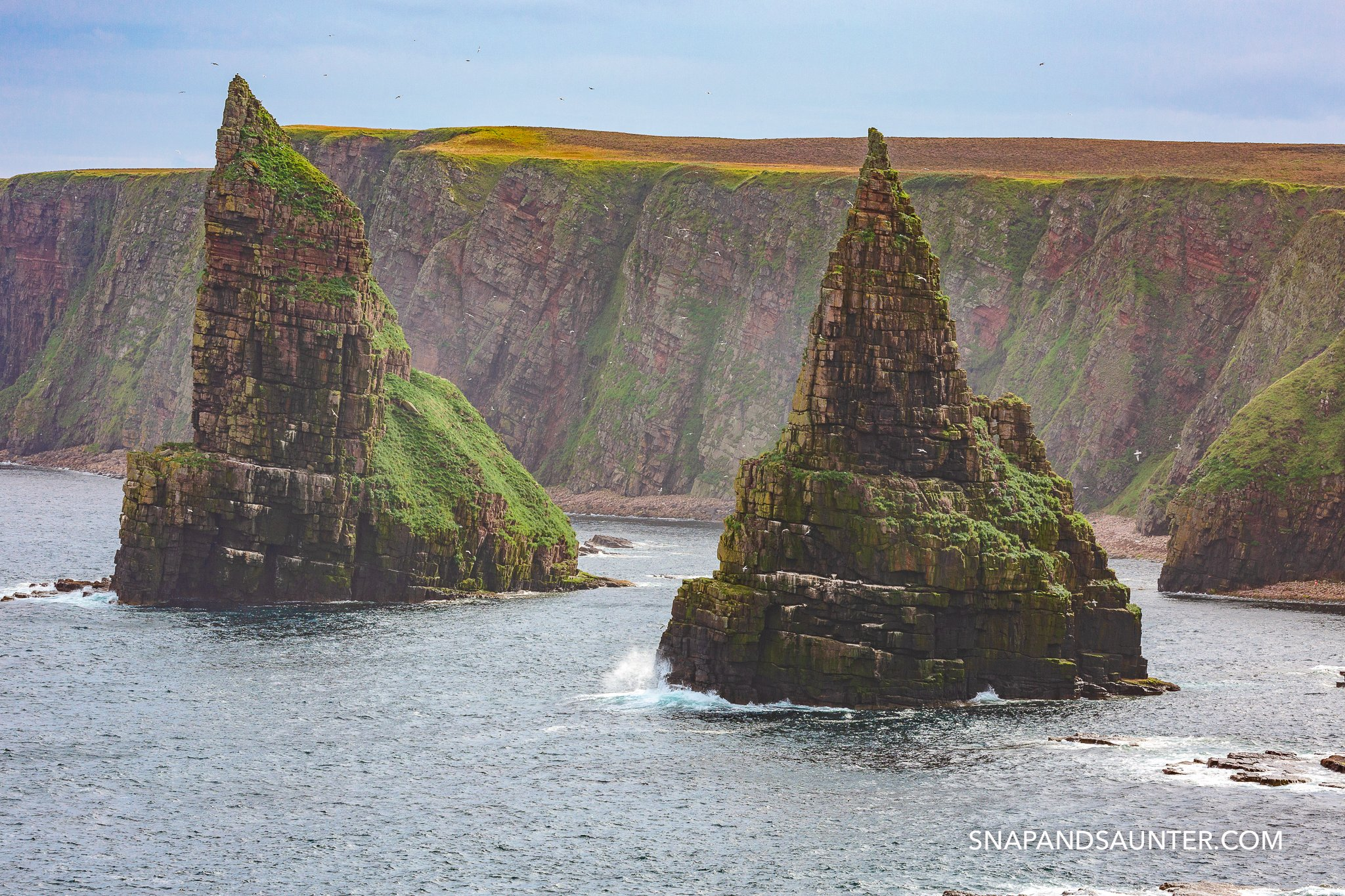 Detail of the Stacks of Duncansby on route North Coast 500
