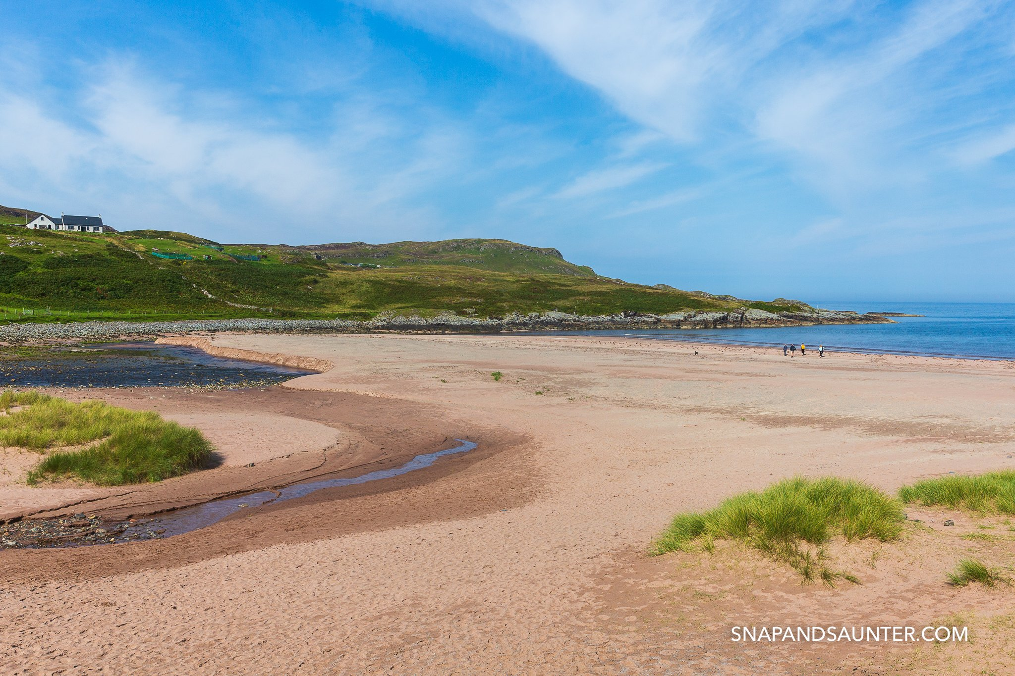 Clashnessie Beach on the North Coast 500 route
