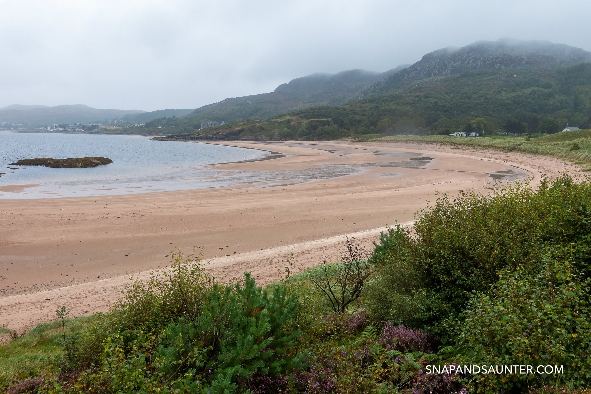Gairloch beach on North Coast 500 route in Scotland