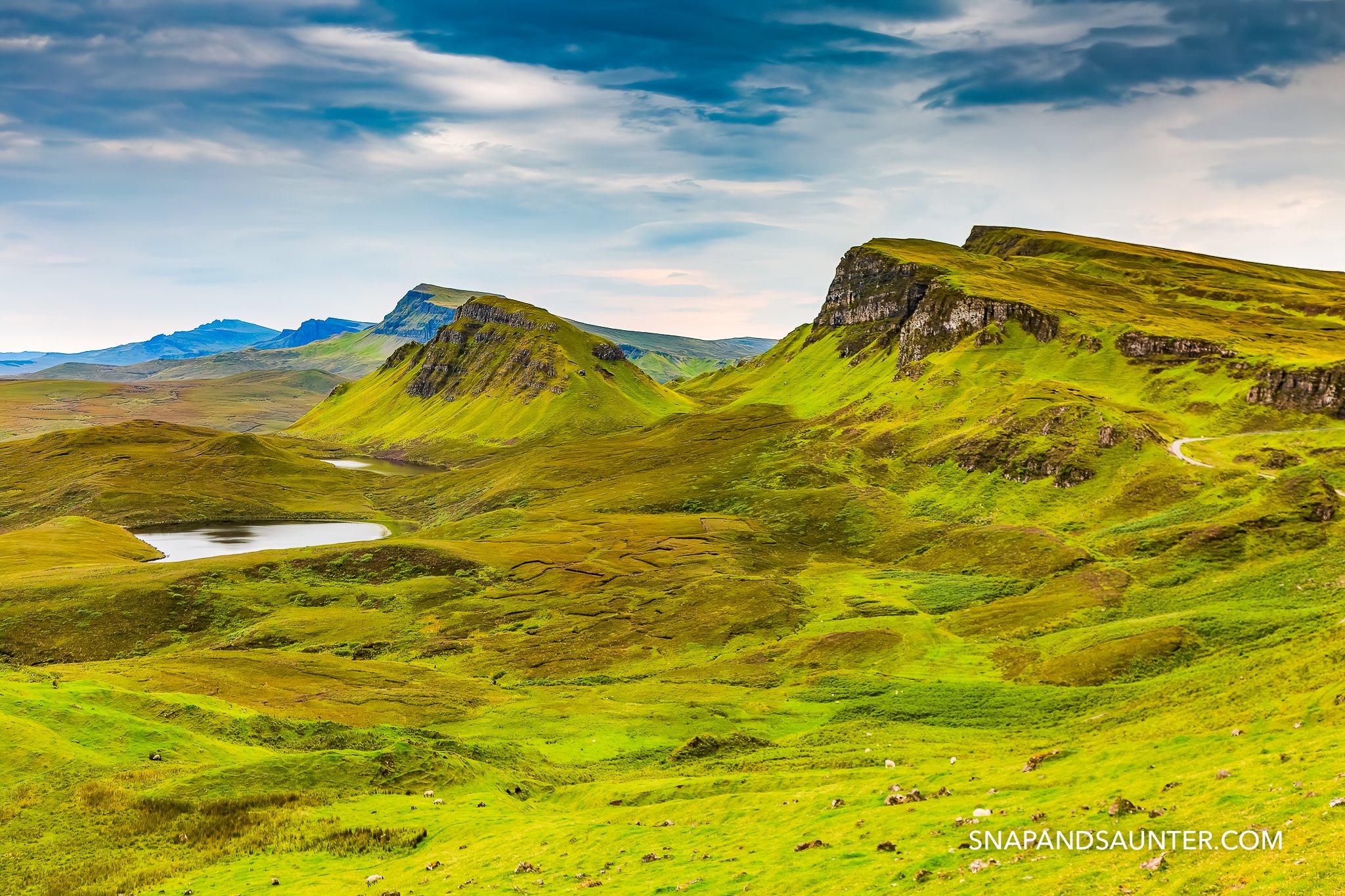 Quiraing on the Isle of Skye in Scotland