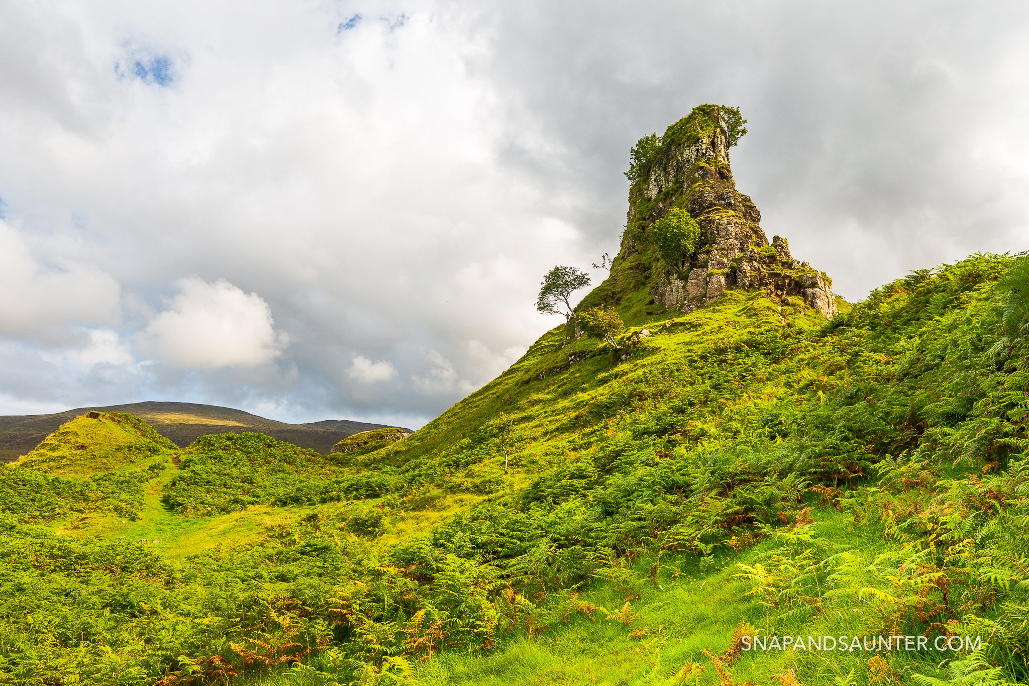 Fairy Glen with Castle Ewan on the Isle of Skye in Scotland