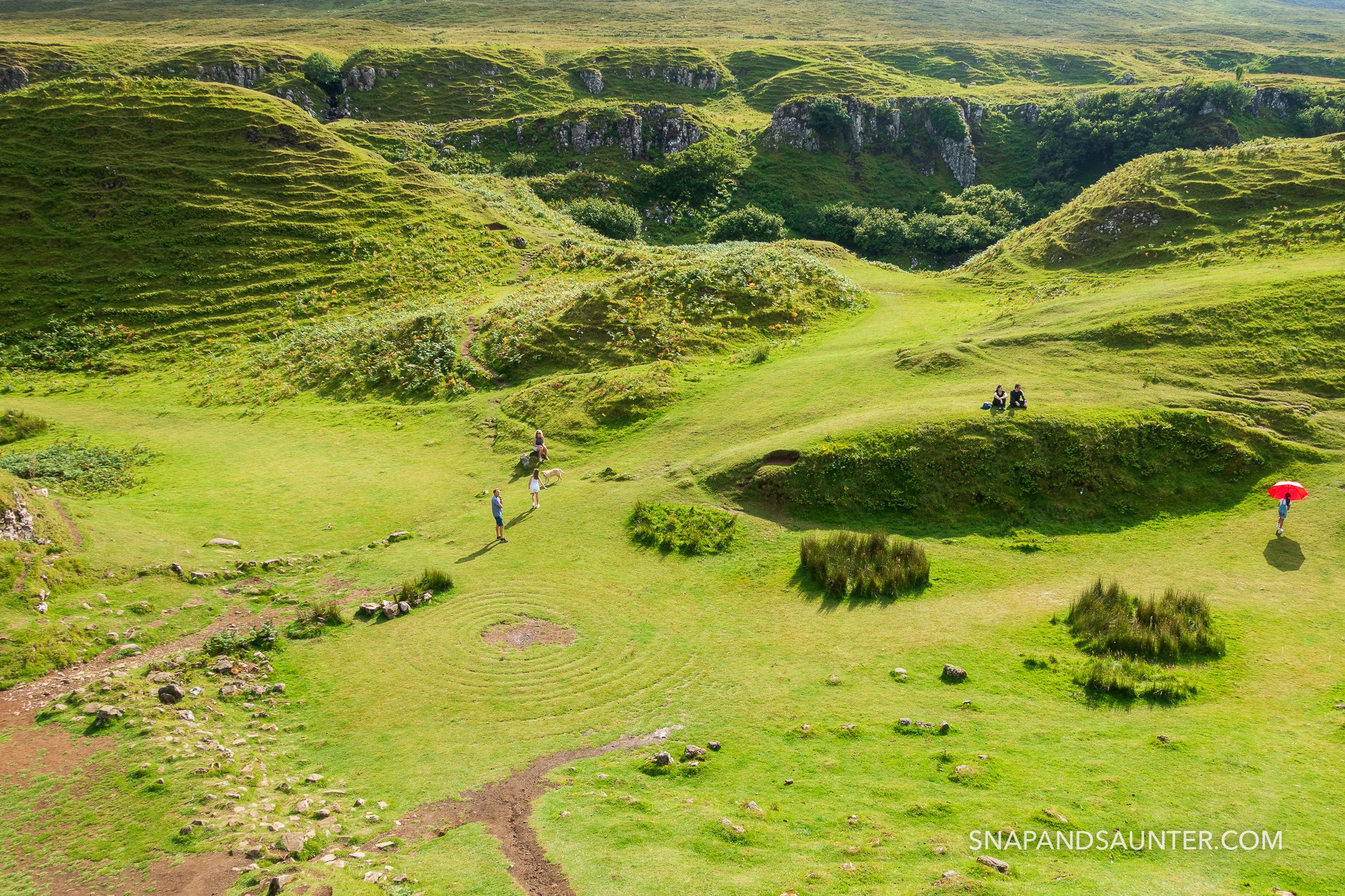 People on the Fairy Glen