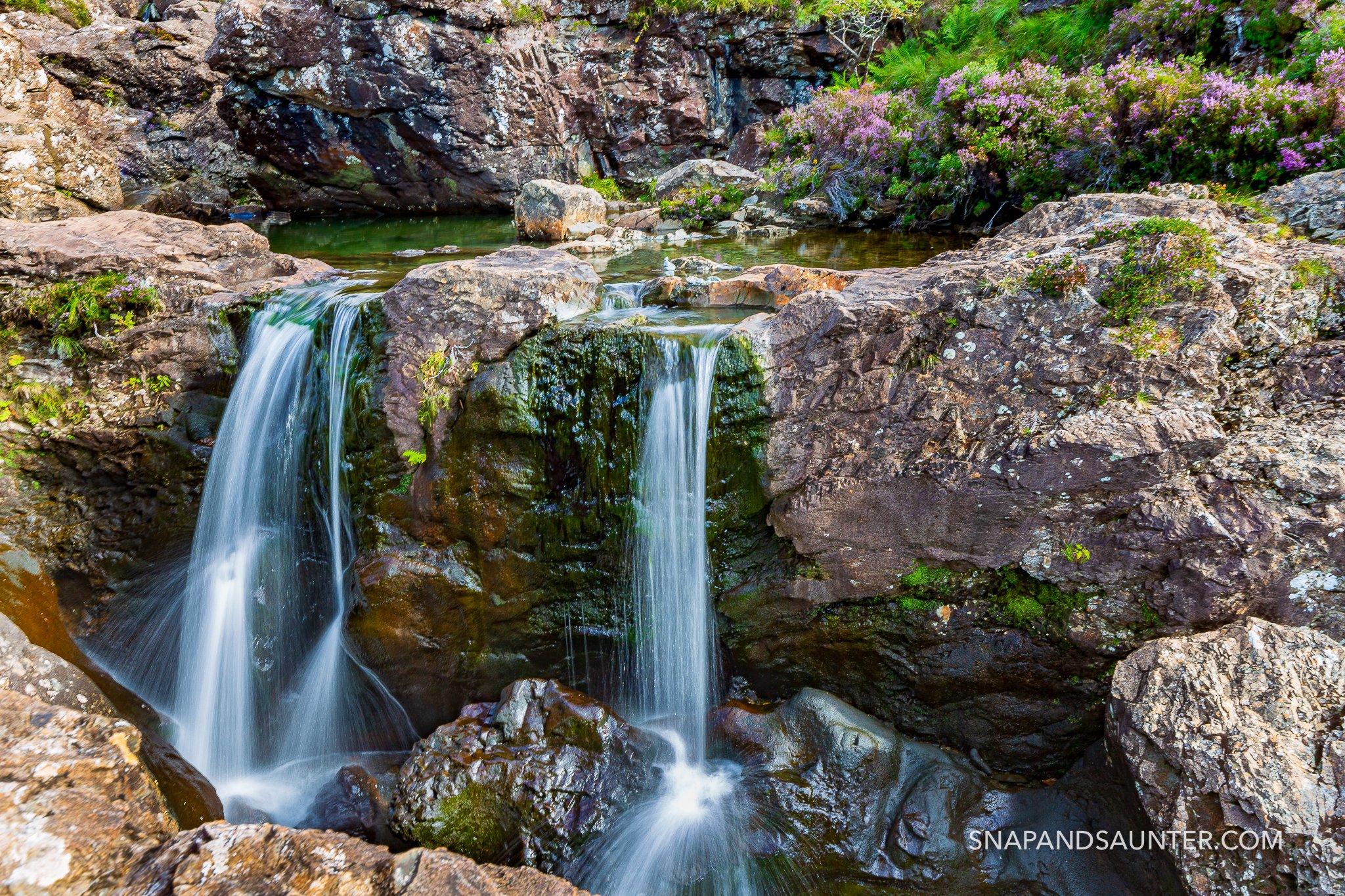 Fairy Pools waterfalls on the Isle of Skye in Scotland
