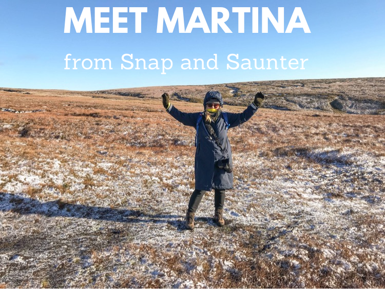 Martina the owner of outdoor travel blog called Snap and Saunter